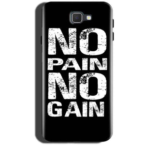 Samsung Galaxy On Max Mobile Covers Cases No Pain No Gain Black And White - Lowest Price - Paybydaddy.com