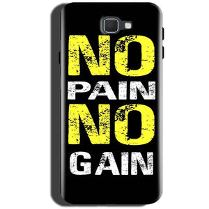 Samsung Galaxy On Max Mobile Covers Cases No Pain No Gain Yellow Black - Lowest Price - Paybydaddy.com