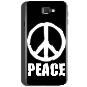 Samsung Galaxy On Max Mobile Covers Cases Peace Sign In White - Lowest Price - Paybydaddy.com