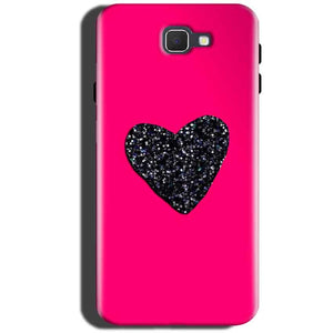 Samsung Galaxy On Max Mobile Covers Cases Pink Glitter Heart - Lowest Price - Paybydaddy.com