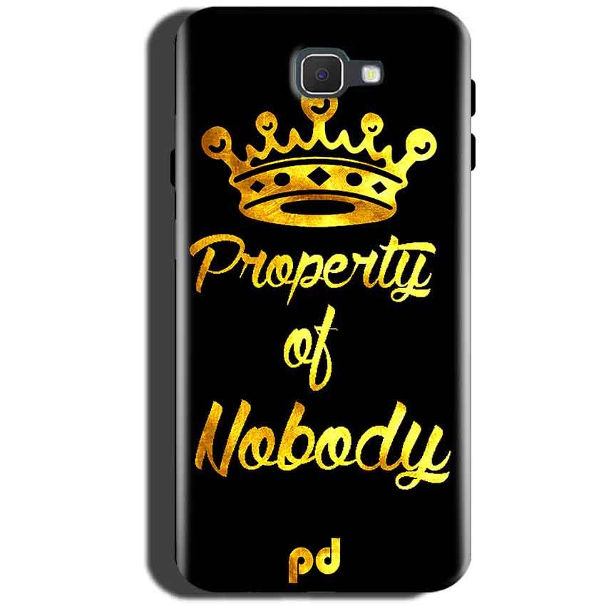 Samsung Galaxy On Max Mobile Covers Cases Property of nobody with Crown - Lowest Price - Paybydaddy.com