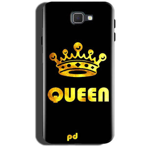 Samsung Galaxy On Max Mobile Covers Cases Queen With Crown in gold - Lowest Price - Paybydaddy.com