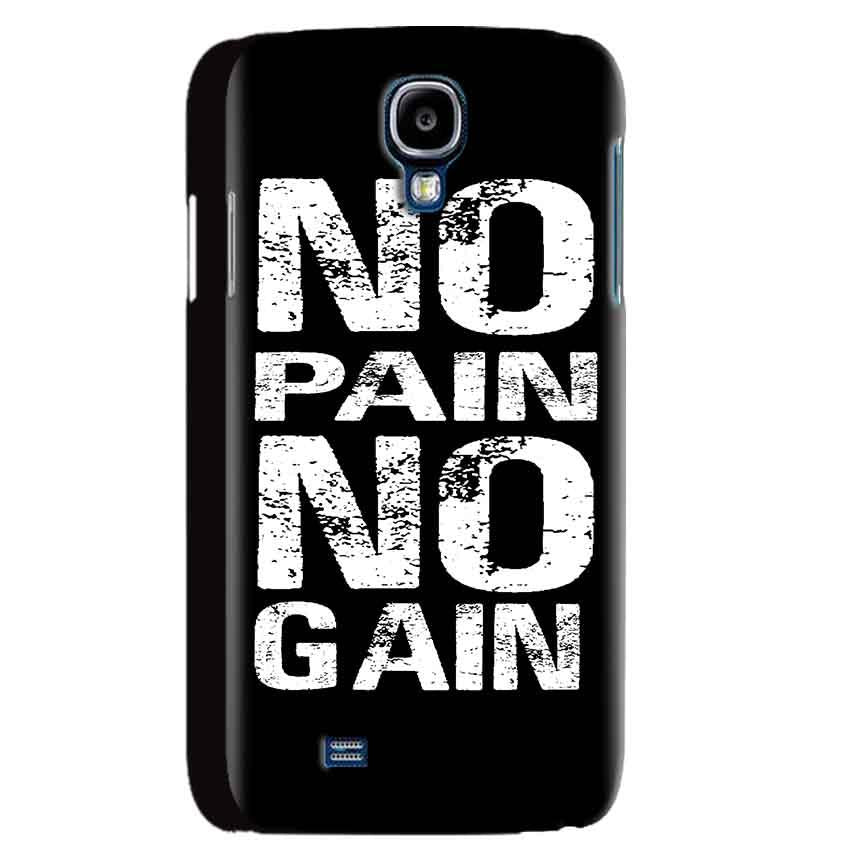 Samsung Galaxy S4 Mobile Covers Cases No Pain No Gain Black And White - Lowest Price - Paybydaddy.com
