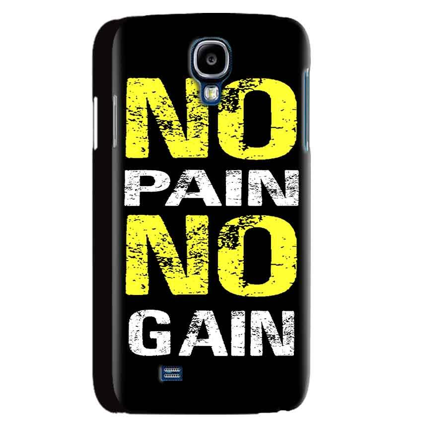 Samsung Galaxy S4 Mobile Covers Cases No Pain No Gain Yellow Black - Lowest Price - Paybydaddy.com
