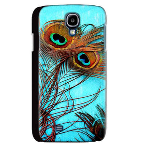 Samsung Galaxy S4 Mobile Covers Cases Peacock blue wings - Lowest Price - Paybydaddy.com