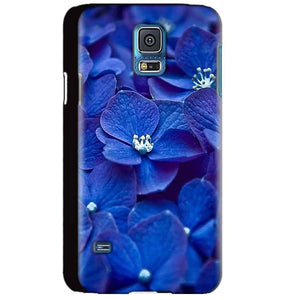 Samsung Galaxy S5 Mobile Covers Cases Blue flower - Lowest Price - Paybydaddy.com