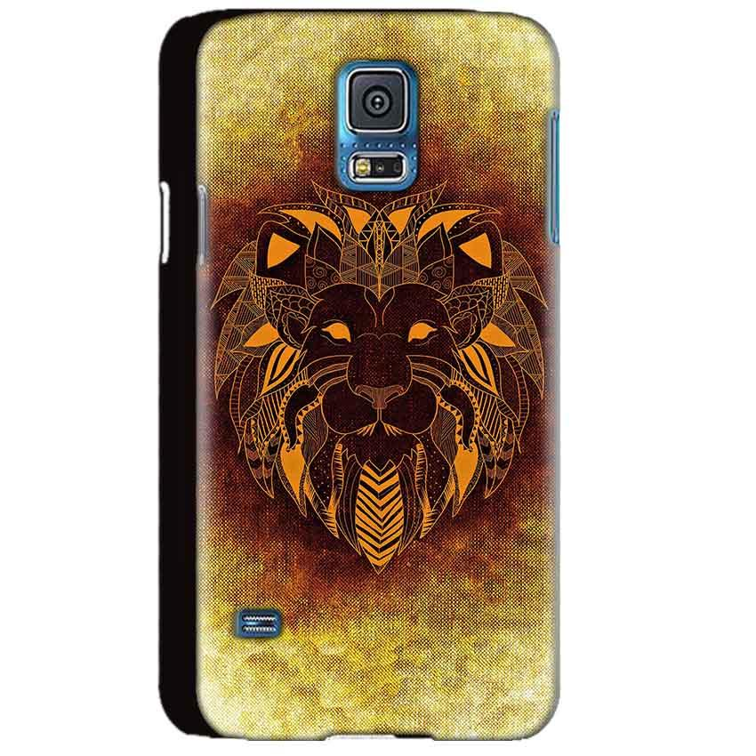 Samsung Galaxy S5 Mobile Covers Cases Lion face art - Lowest Price - Paybydaddy.com