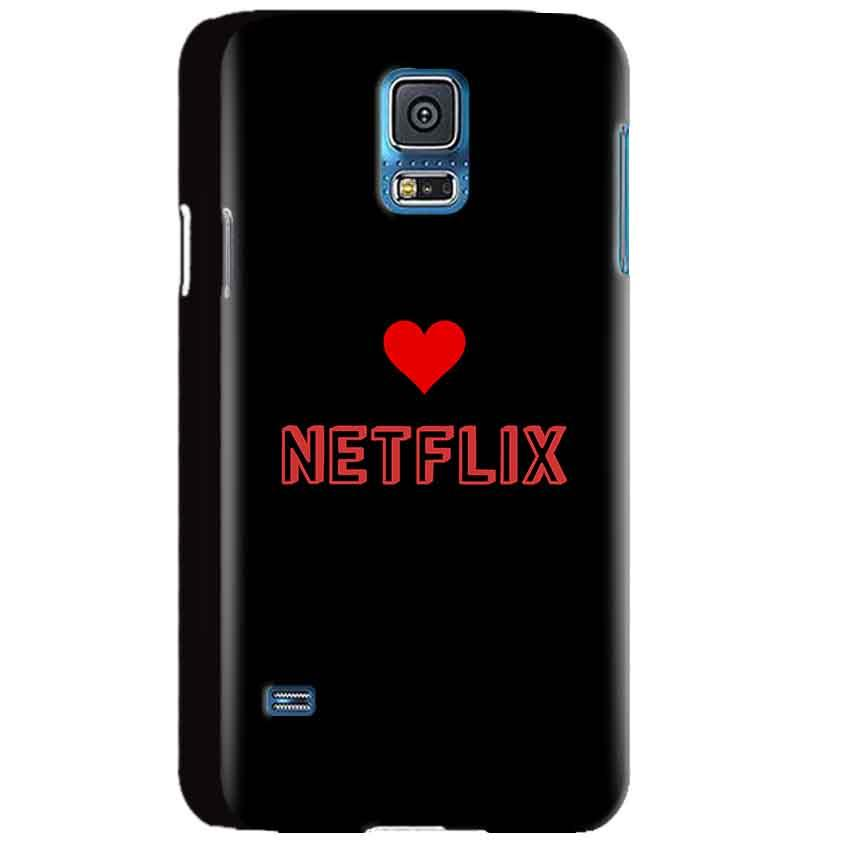 Samsung Galaxy S5 Mobile Covers Cases NETFLIX WITH HEART - Lowest Price - Paybydaddy.com