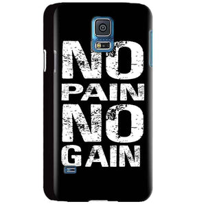 Samsung Galaxy S5 Mobile Covers Cases No Pain No Gain Black And White - Lowest Price - Paybydaddy.com