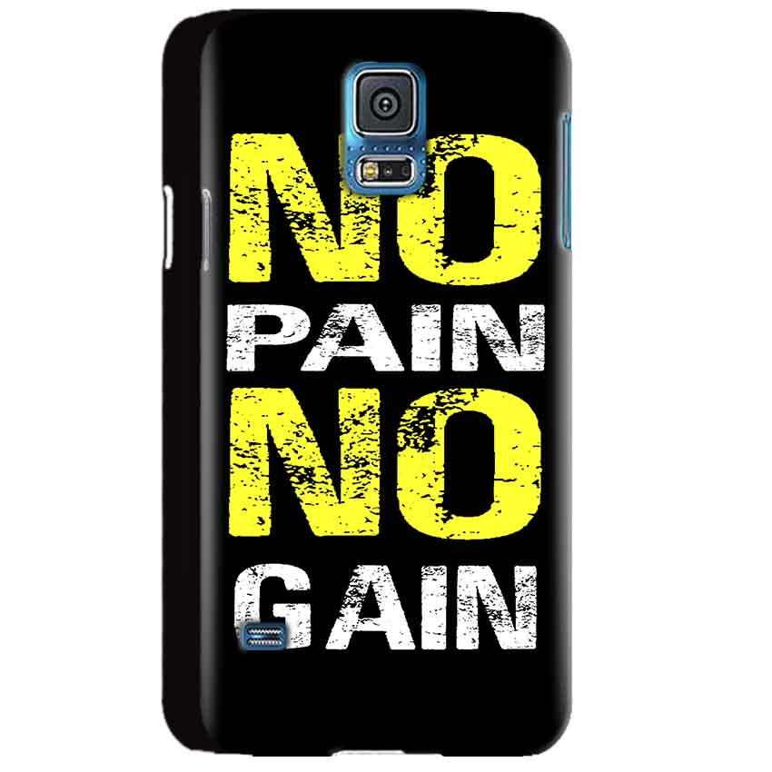 Samsung Galaxy S5 Mobile Covers Cases No Pain No Gain Yellow Black - Lowest Price - Paybydaddy.com