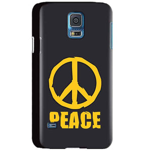 Samsung Galaxy S5 Mobile Covers Cases Peace Blue Yellow - Lowest Price - Paybydaddy.com