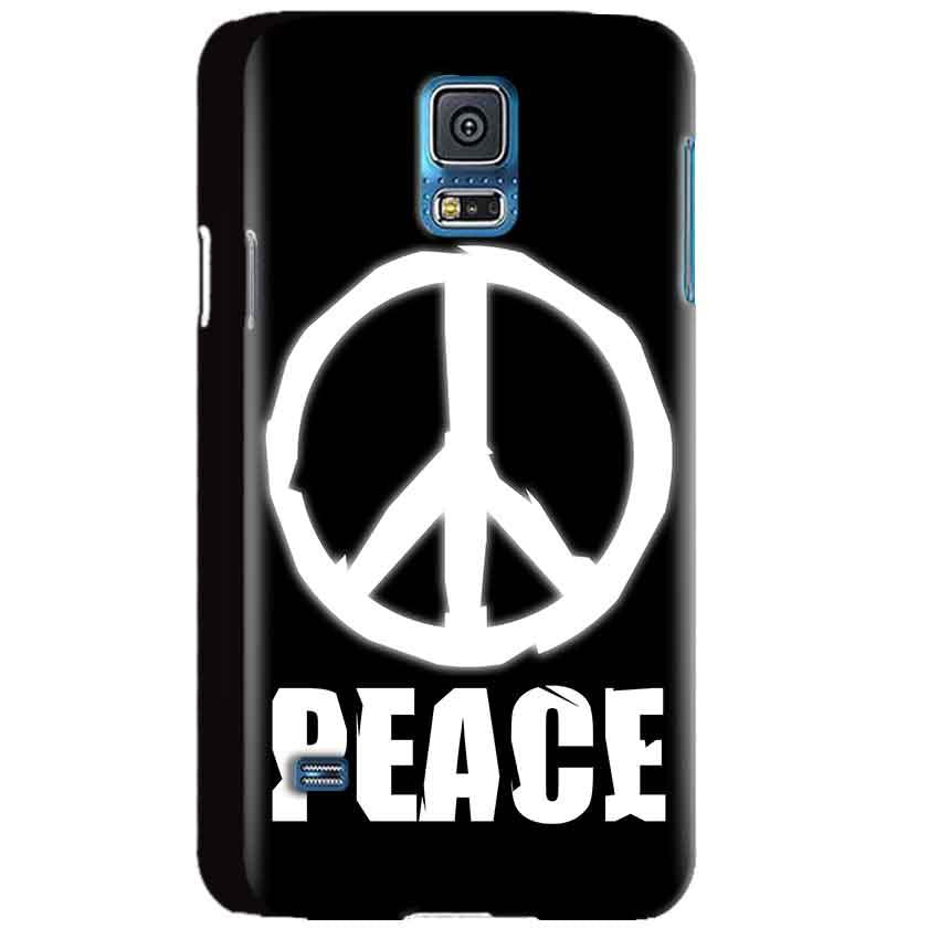 Samsung Galaxy S5 Mobile Covers Cases Peace Sign In White - Lowest Price - Paybydaddy.com