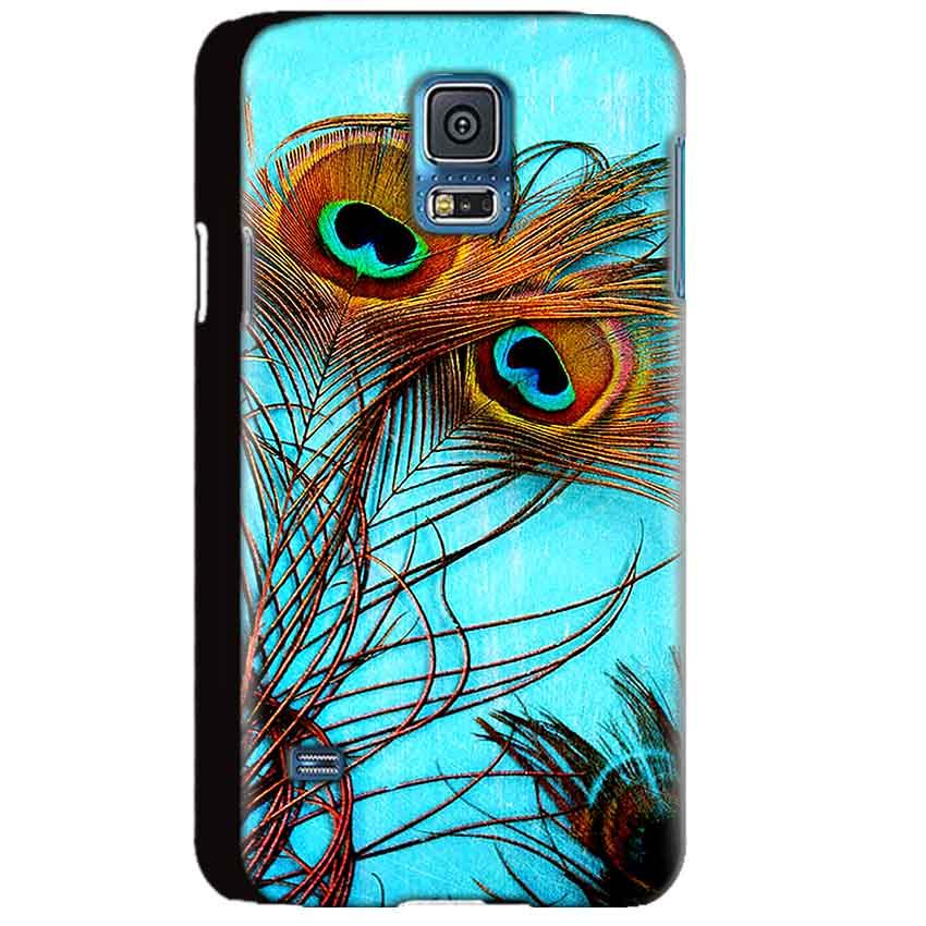 Samsung Galaxy S5 Mobile Covers Cases Peacock blue wings - Lowest Price - Paybydaddy.com