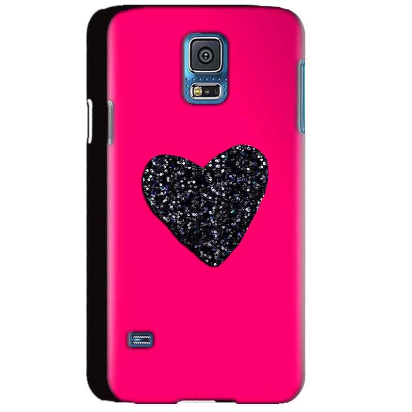 Samsung Galaxy S5 Mobile Covers Cases Pink Glitter Heart - Lowest Price - Paybydaddy.com