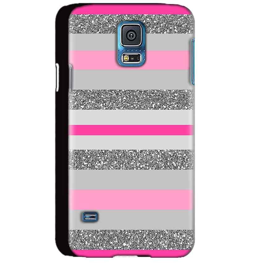 Samsung Galaxy S5 Mobile Covers Cases Pink colour pattern - Lowest Price - Paybydaddy.com