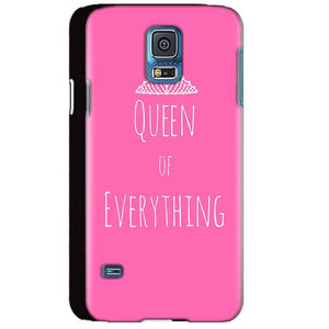 Samsung Galaxy S5 Mobile Covers Cases Queen Of Everything Pink White - Lowest Price - Paybydaddy.com