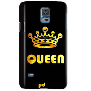Samsung Galaxy S5 Mobile Covers Cases Queen With Crown in gold - Lowest Price - Paybydaddy.com