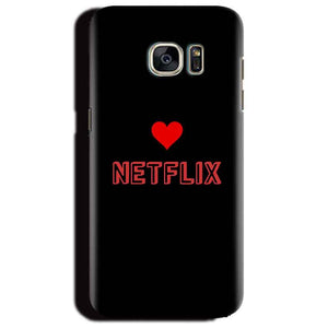 Samsung Galaxy S6 Edge Plus Mobile Covers Cases NETFLIX WITH HEART - Lowest Price - Paybydaddy.com