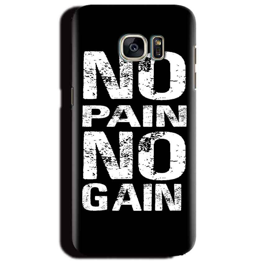 Samsung Galaxy S6 Edge Plus Mobile Covers Cases No Pain No Gain Black And White - Lowest Price - Paybydaddy.com