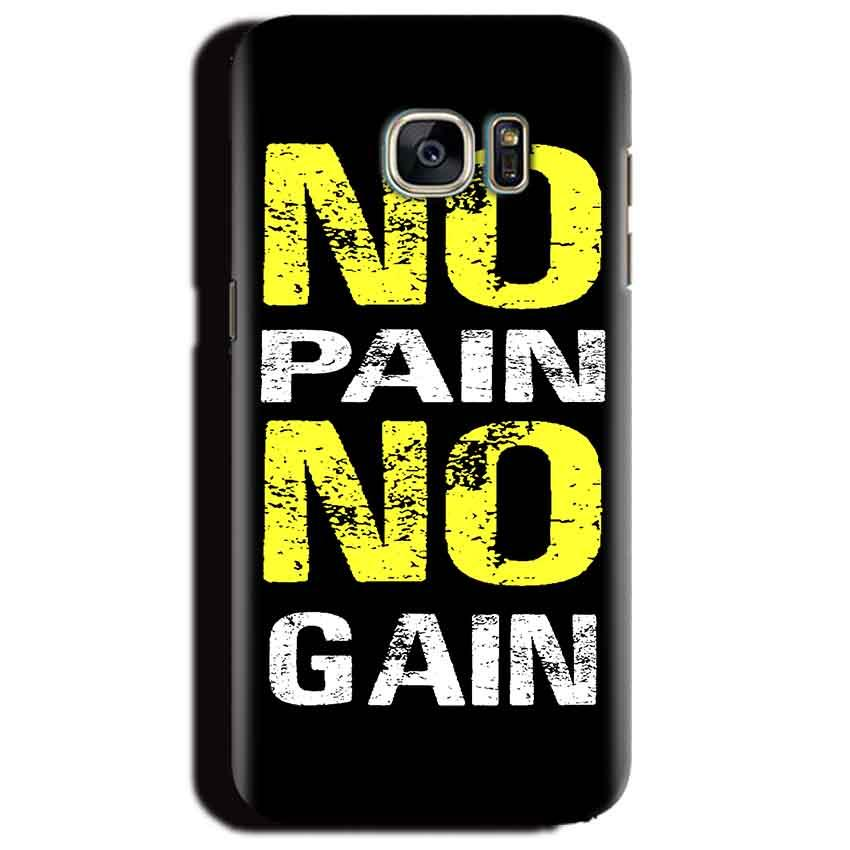 Samsung Galaxy S6 Edge Plus Mobile Covers Cases No Pain No Gain Yellow Black - Lowest Price - Paybydaddy.com