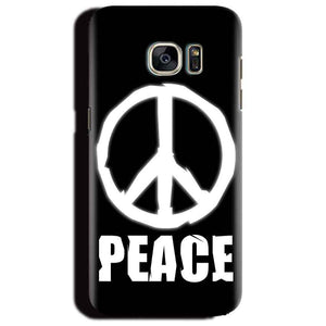 Samsung Galaxy S6 Edge Plus Mobile Covers Cases Peace Sign In White - Lowest Price - Paybydaddy.com