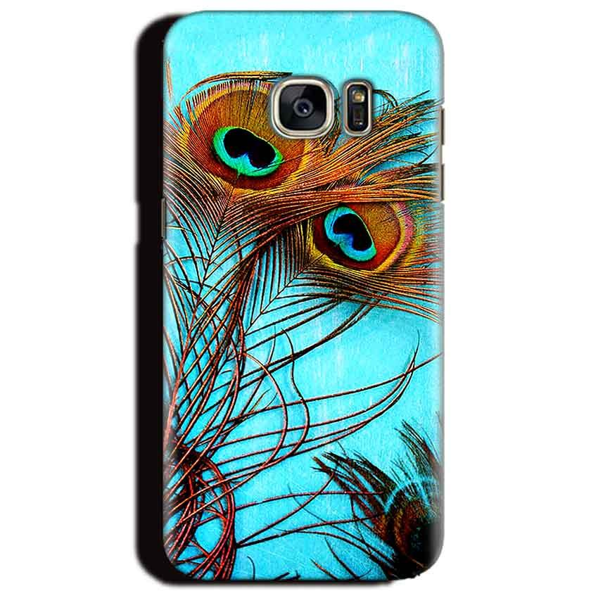 Samsung Galaxy S6 Edge Plus Mobile Covers Cases Peacock blue wings - Lowest Price - Paybydaddy.com