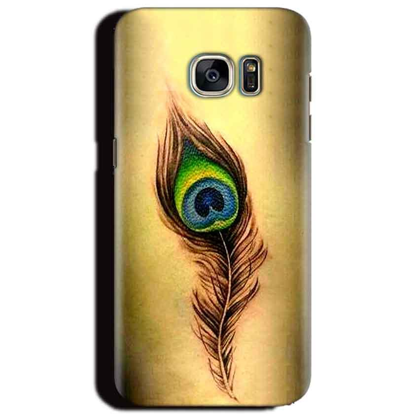 Samsung Galaxy S6 Edge Plus Mobile Covers Cases Peacock coloured art - Lowest Price - Paybydaddy.com
