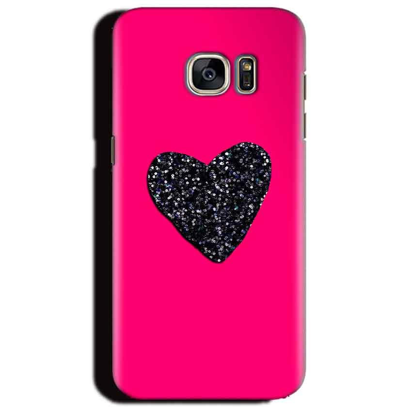 Samsung Galaxy S6 Edge Plus Mobile Covers Cases Pink Glitter Heart - Lowest Price - Paybydaddy.com