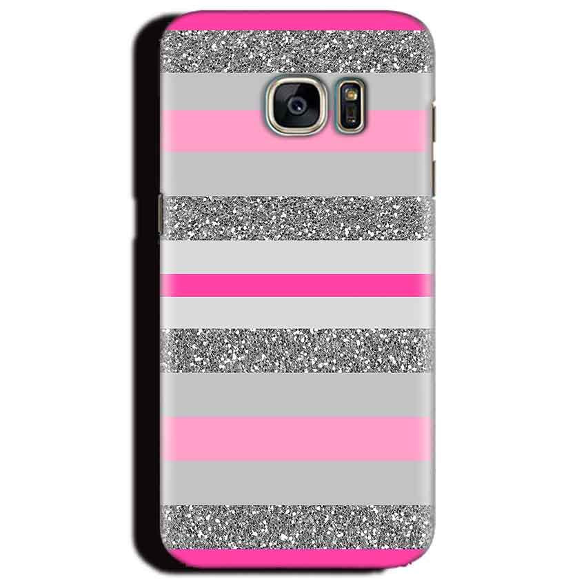 Samsung Galaxy S6 Edge Plus Mobile Covers Cases Pink colour pattern - Lowest Price - Paybydaddy.com