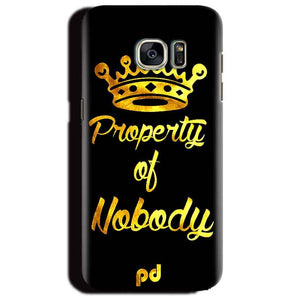 Samsung Galaxy S6 Edge Plus Mobile Covers Cases Property of nobody with Crown - Lowest Price - Paybydaddy.com
