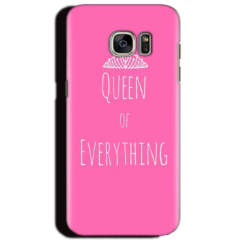 Samsung Galaxy S6 Edge Plus Mobile Covers Cases Queen Of Everything Pink White - Lowest Price - Paybydaddy.com