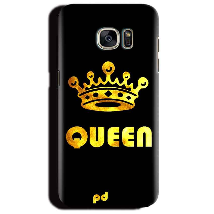 Samsung Galaxy S6 Edge Plus Mobile Covers Cases Queen With Crown in gold - Lowest Price - Paybydaddy.com