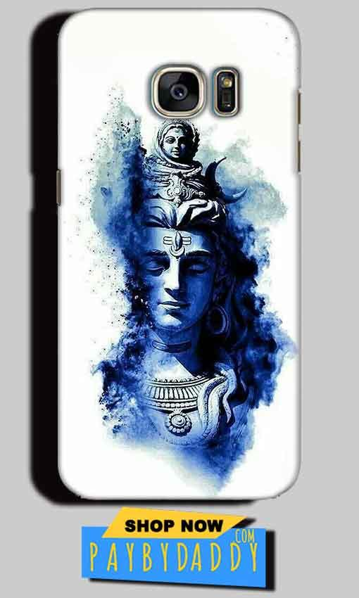 Samsung Galaxy S6 Edge Plus Mobile Covers Cases Shiva Blue White - Lowest Price - Paybydaddy.com