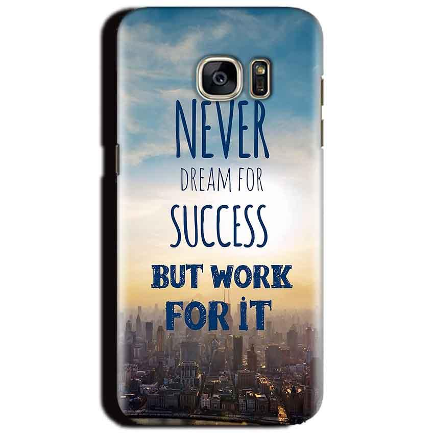 Samsung Galaxy S6 Mobile Covers Cases Never Dreams For Success But Work For It Quote - Lowest Price - Paybydaddy.com
