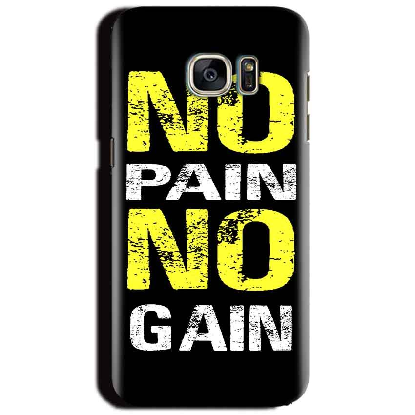 Samsung Galaxy S6 Mobile Covers Cases No Pain No Gain Yellow Black - Lowest Price - Paybydaddy.com
