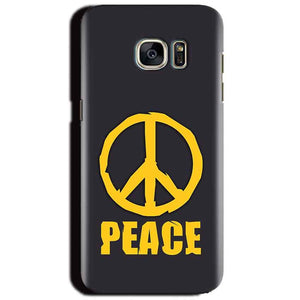 Samsung Galaxy S6 Mobile Covers Cases Peace Blue Yellow - Lowest Price - Paybydaddy.com