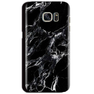 Samsung Galaxy S6 Mobile Covers Cases Pure Black Marble Texture - Lowest Price - Paybydaddy.com