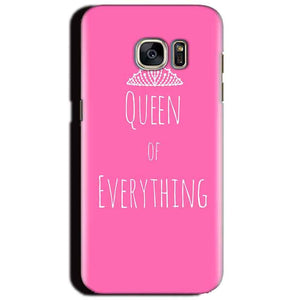 Samsung Galaxy S6 Mobile Covers Cases Queen Of Everything Pink White - Lowest Price - Paybydaddy.com