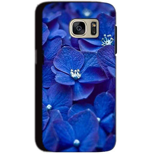 Samsung Galaxy S7 Mobile Covers Cases Blue flower - Lowest Price - Paybydaddy.com