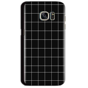 Samsung Galaxy S7 Edge Mobile Covers Cases Black with White Checks - Lowest Price - Paybydaddy.com