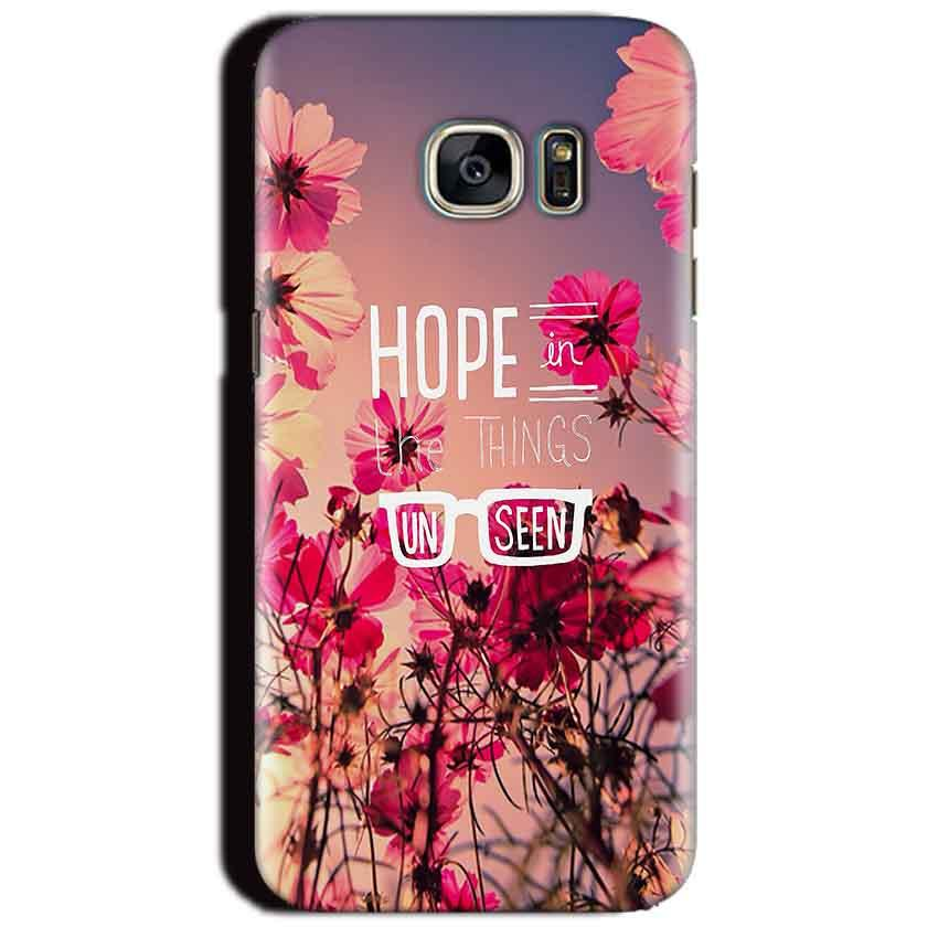 Samsung Galaxy S7 Edge Mobile Covers Cases Hope in the Things Unseen- Lowest Price - Paybydaddy.com