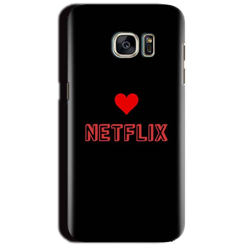 Samsung Galaxy S7 Edge Mobile Covers Cases NETFLIX WITH HEART - Lowest Price - Paybydaddy.com