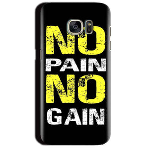 Samsung Galaxy S7 Edge Mobile Covers Cases No Pain No Gain Yellow Black - Lowest Price - Paybydaddy.com
