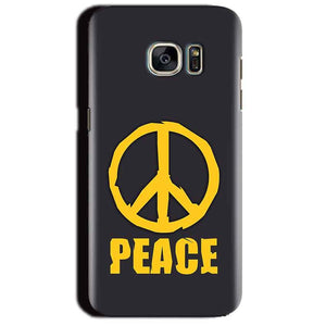 Samsung Galaxy S7 Edge Mobile Covers Cases Peace Blue Yellow - Lowest Price - Paybydaddy.com