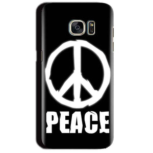 Samsung Galaxy S7 Edge Mobile Covers Cases Peace Sign In White - Lowest Price - Paybydaddy.com