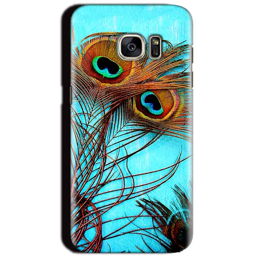 Samsung Galaxy S7 Edge Mobile Covers Cases Peacock blue wings - Lowest Price - Paybydaddy.com
