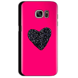 Samsung Galaxy S7 Edge Mobile Covers Cases Pink Glitter Heart - Lowest Price - Paybydaddy.com