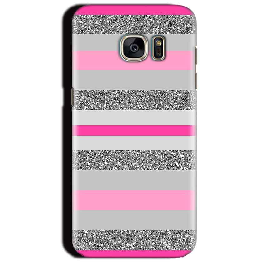 Samsung Galaxy S7 Edge Mobile Covers Cases Pink colour pattern - Lowest Price - Paybydaddy.com