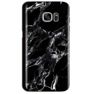 Samsung Galaxy S7 Edge Mobile Covers Cases Pure Black Marble Texture - Lowest Price - Paybydaddy.com