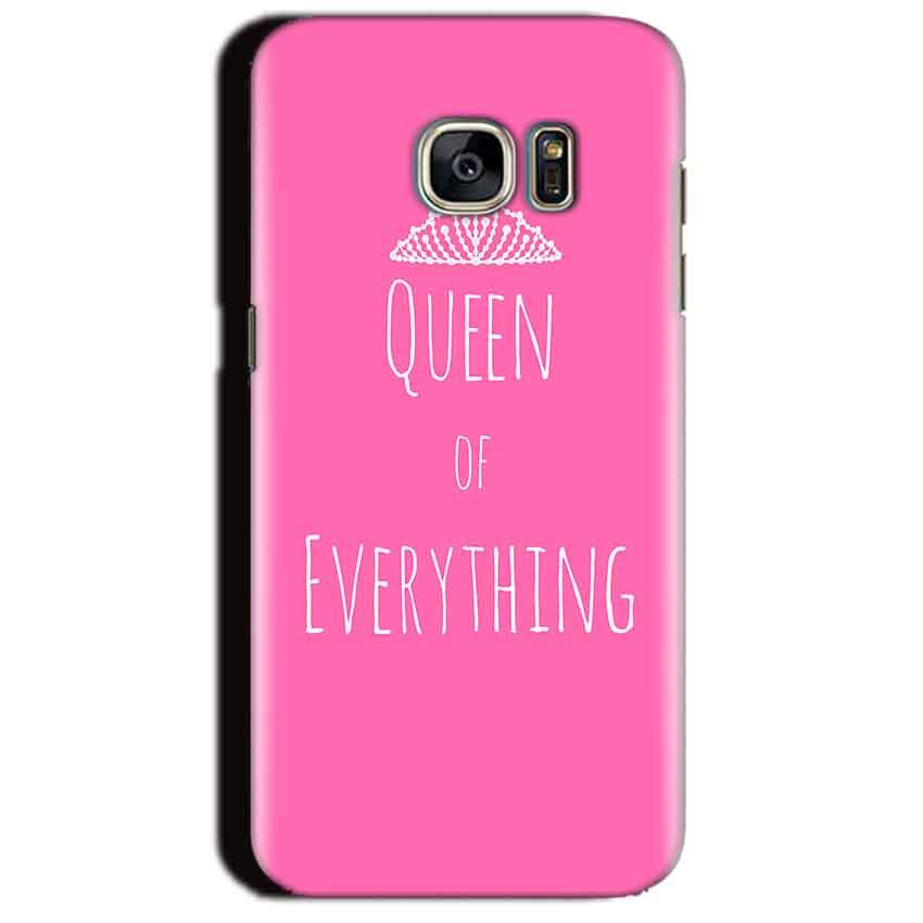 Samsung Galaxy S7 Edge Mobile Covers Cases Queen Of Everything Pink White - Lowest Price - Paybydaddy.com